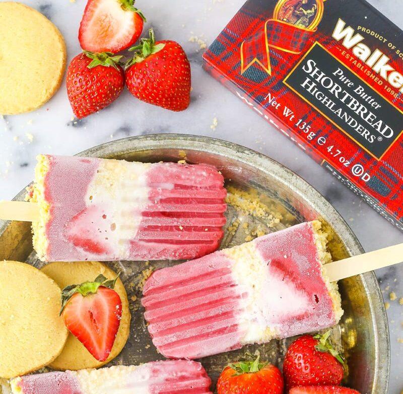 Strawberry Shortcake Ice Lollies