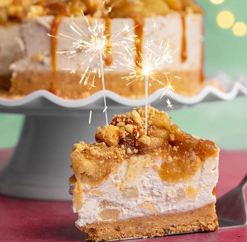 Gluten Free Caramel Apple Crumble Cheesecake