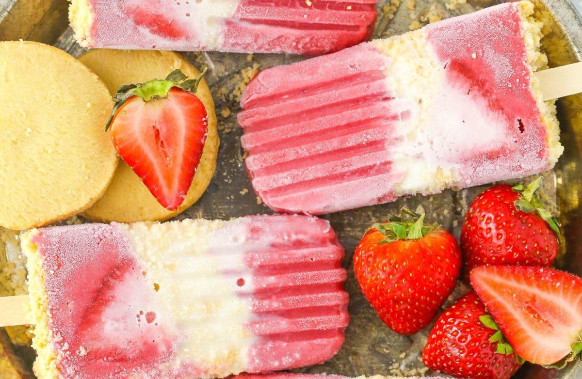 Strawberry Shortcake Popsicles