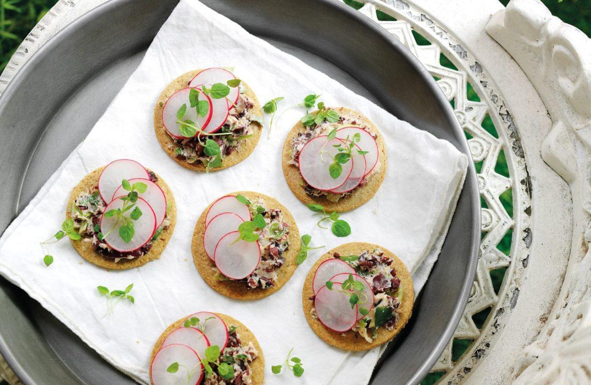 Radish & Black Olive Butter Oat Crackers