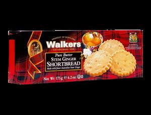 Stem Ginger Shortbread Cookies