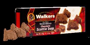 Chocolate Scottie Dogs Shortbread Cookies