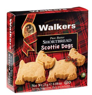 Two Scottie Dogs Shortbread Cookies Snack