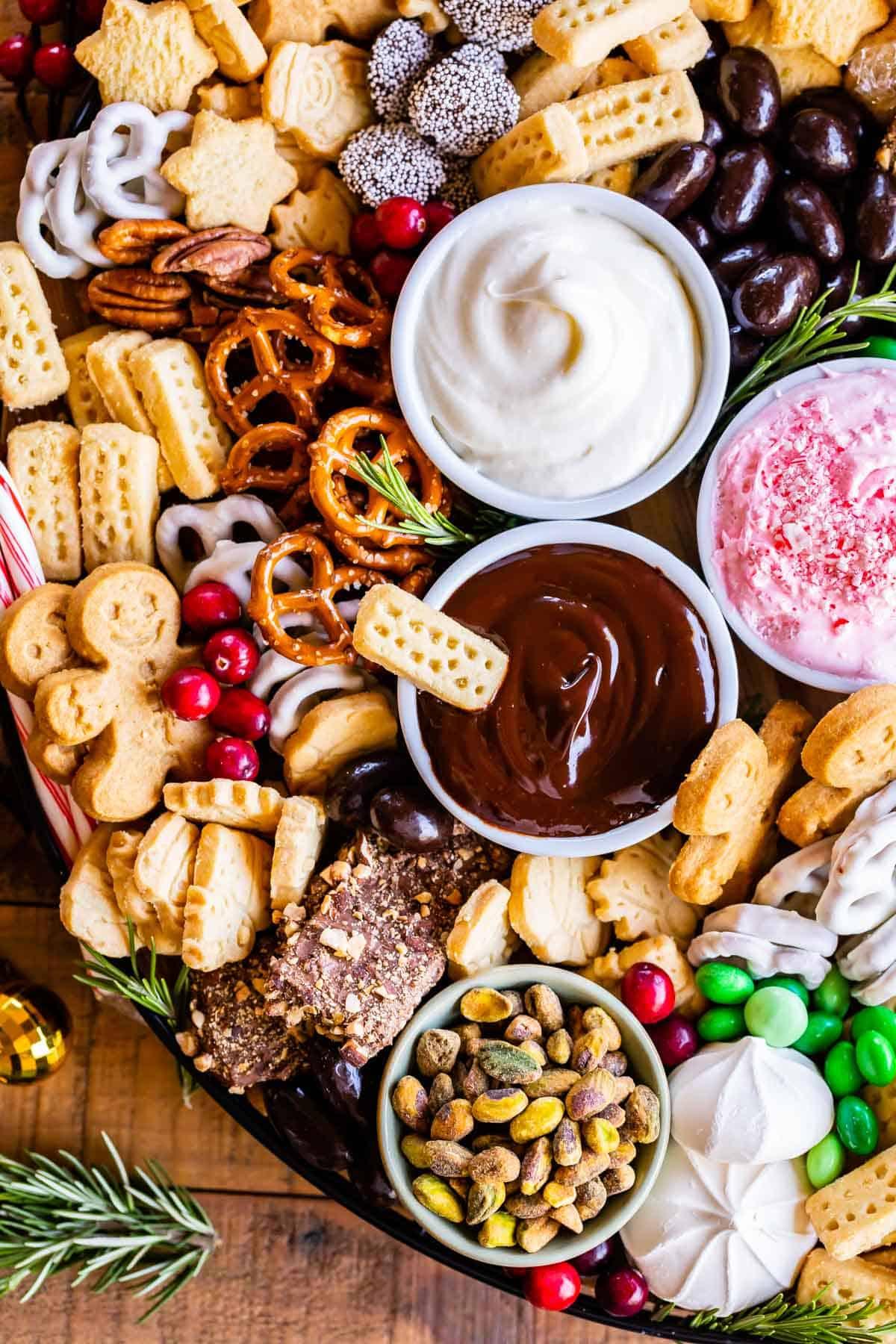 Dessert Charcuterie Board with Walkers Shortbread Cookies