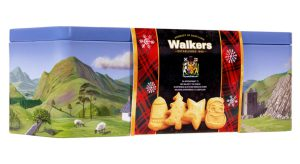 Walkers Scenic Scotland Shortbread Tin with Festive Band