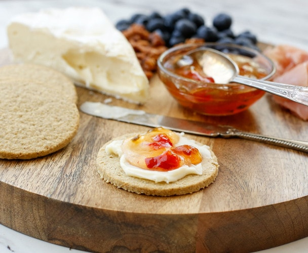 Walkers Highland Oat Crackers on a charcuterie board