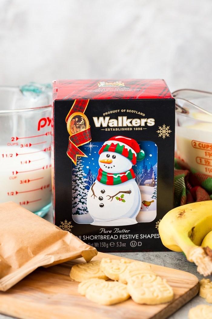 fun holiday version of a classic banana pudding