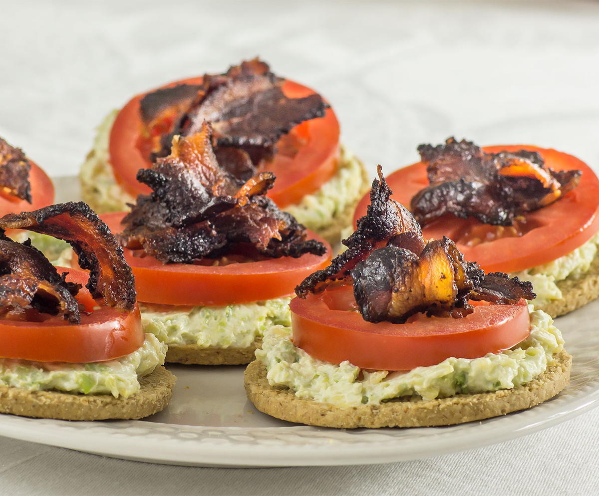 Bacon Avocado Oat Cracker Rounds