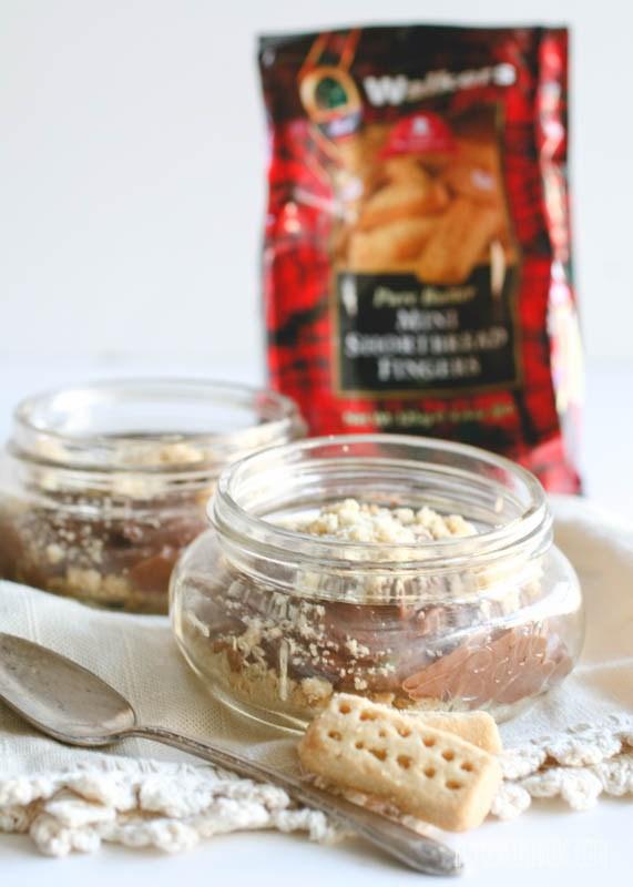Chocolate Mousse Shortbread Jars