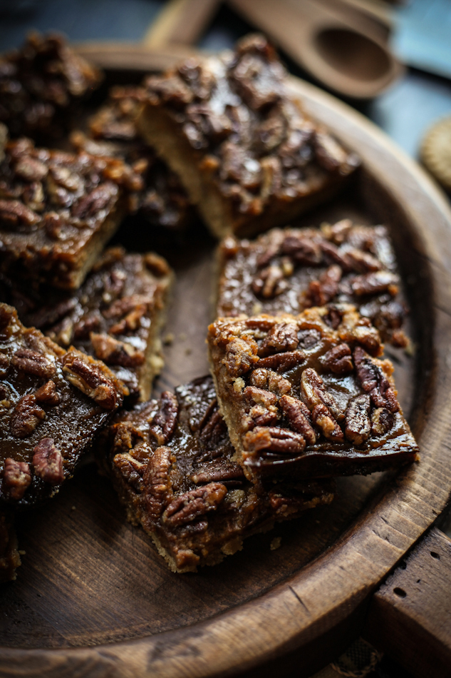 Maple, Pecan & Butternut Squash Shortbread Bars
