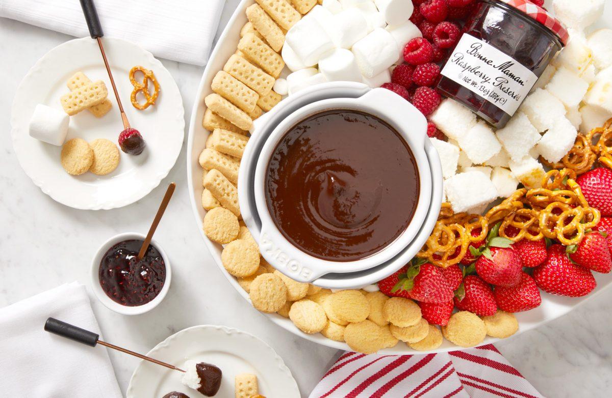 A Sweet Indulgence: Chocolate Raspberry Fondue and Walkers Shortbread